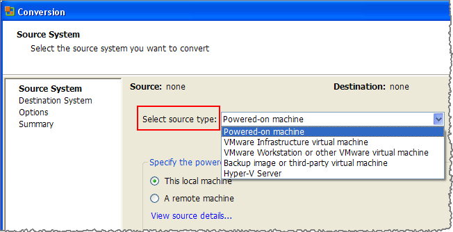 Converting an Existing Host and Deploying it to the VMware