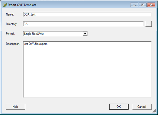 Creating and Deploying an OVA or OVF File