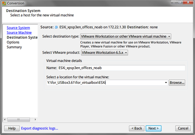 Using VMware vCenter Converter Standalone