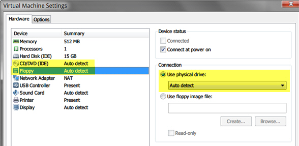 Verifying and Exporting from VMware Workstation