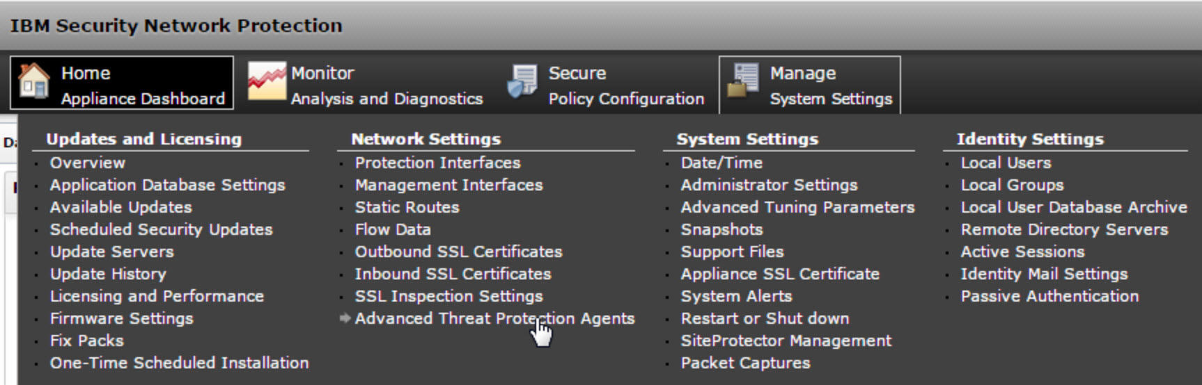 Configuring IBM Security Network Protection