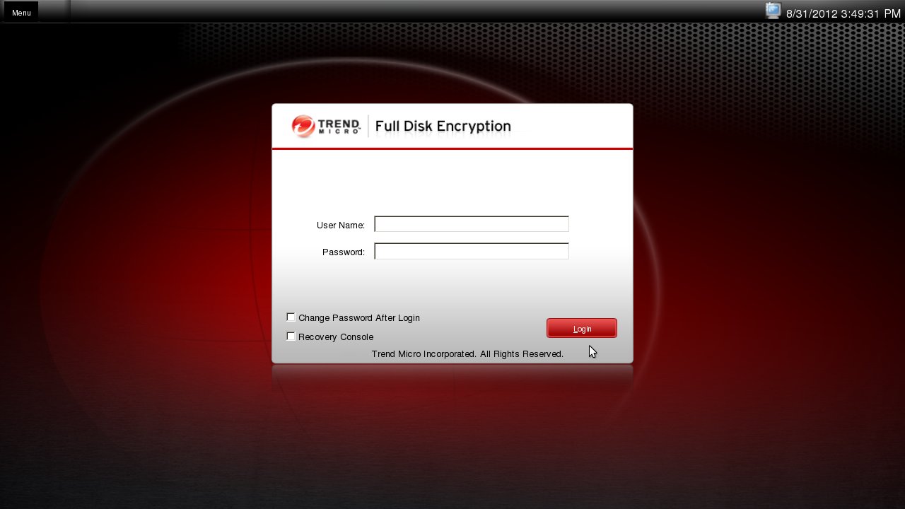Full Disk Encryption Preboot