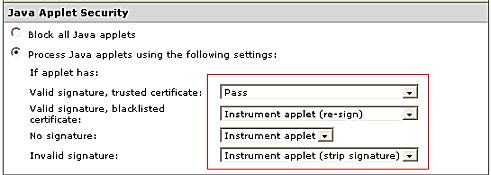 Malicious Code Policy: Java Applet Security Rules
