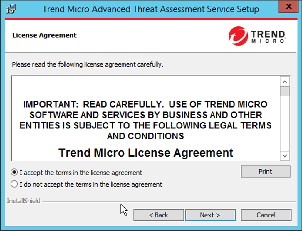 Advanced Threat Assessment Service 15 Enterprise Online Help Center