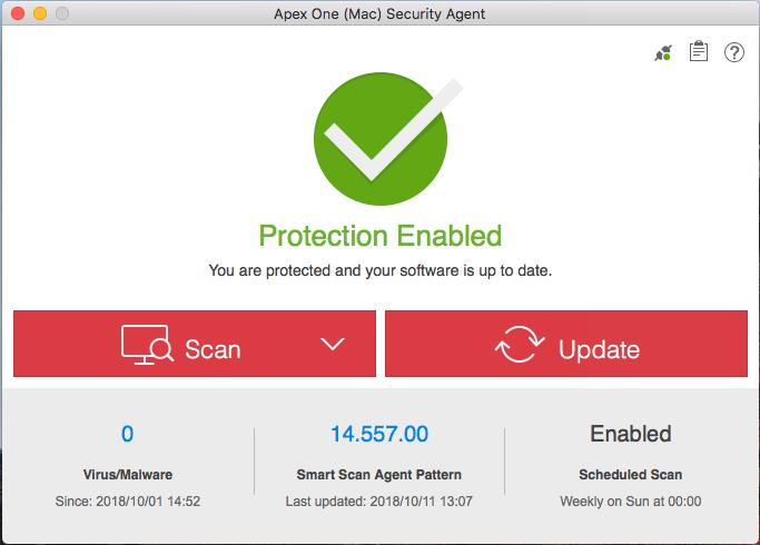 Apex One (Mac) as a Service Agent Online Help / Enterprise