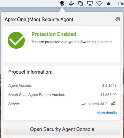 Trend Micro Apex One (Mac) 2019 Agent Online Help / Enterprise
