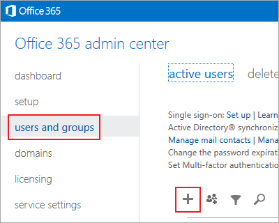 manage users o365